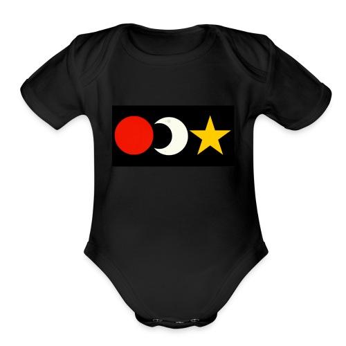 The Sun, Moon And Star. - Organic Short Sleeve Baby Bodysuit