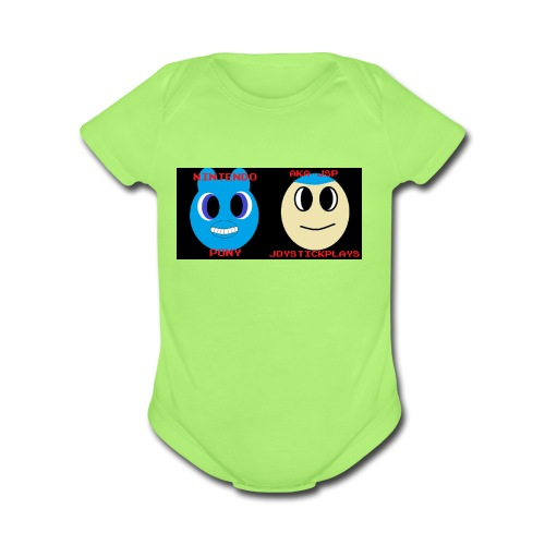 JSP and Nintendo Pony - Organic Short Sleeve Baby Bodysuit