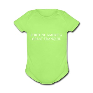 Fortune America Great Tranquil - Short Sleeve Baby Bodysuit