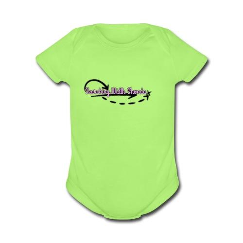 Official Logo1 - Organic Short Sleeve Baby Bodysuit
