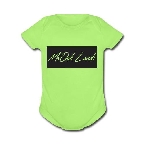 Mr Oak Lands Hoddie - Organic Short Sleeve Baby Bodysuit