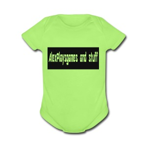 AlexPlaysgames and stuff design - Short Sleeve Baby Bodysuit