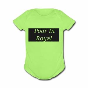 Poor In Royal Shirts - Short Sleeve Baby Bodysuit