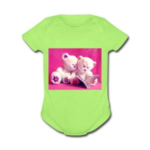 Cute teddy bears - Short Sleeve Baby Bodysuit