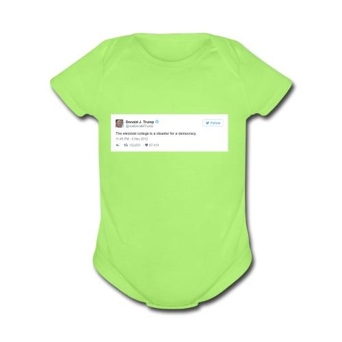 Occasionally, He Tells the Truth - Organic Short Sleeve Baby Bodysuit
