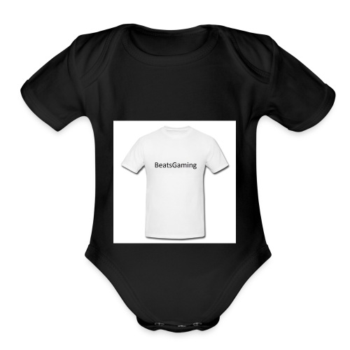 white - Organic Short Sleeve Baby Bodysuit