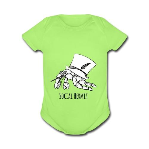 SocialHermit - Organic Short Sleeve Baby Bodysuit