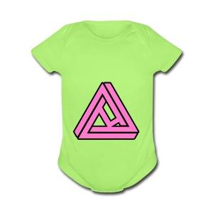 Breast Cancer Awareness Logo - Short Sleeve Baby Bodysuit