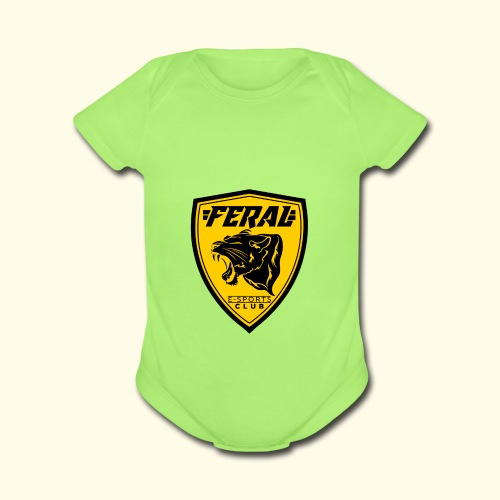 FERAL_EC_Logo - Organic Short Sleeve Baby Bodysuit