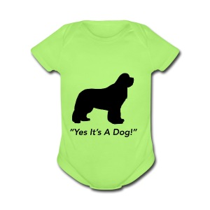 Yes Its A Dog - Short Sleeve Baby Bodysuit