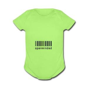 open minded logo - Short Sleeve Baby Bodysuit