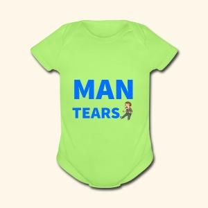 Man Tears Mug - Short Sleeve Baby Bodysuit