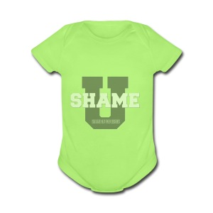 Shame On You Series by Teresa Mummert - Short Sleeve Baby Bodysuit