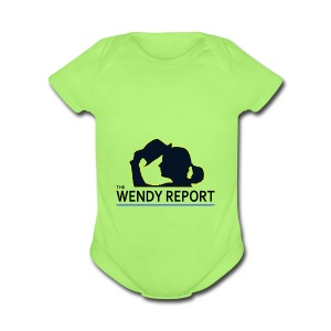 The Wendy Report Logo - Black - Short Sleeve Baby Bodysuit