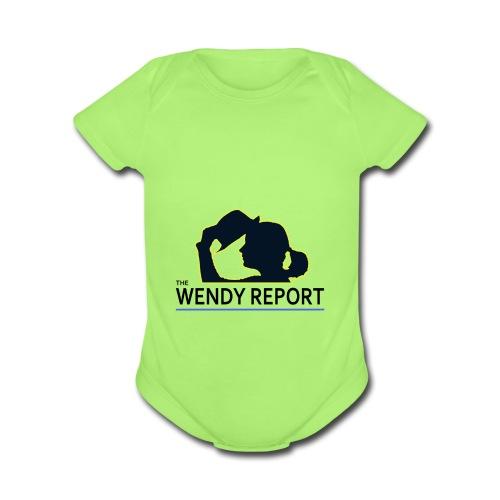 The Wendy Report Logo - Black - Organic Short Sleeve Baby Bodysuit