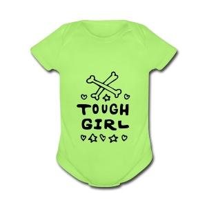 Tough Girl - Short Sleeve Baby Bodysuit