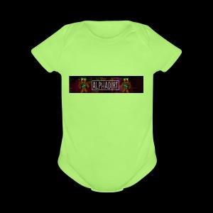 AlphaDirtBanner - Short Sleeve Baby Bodysuit