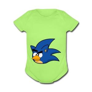 Sonic Angry Bird - Short Sleeve Baby Bodysuit
