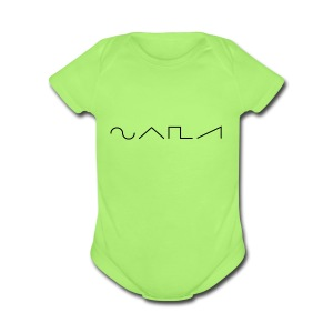 Waveforms_-1- - Short Sleeve Baby Bodysuit