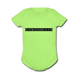 DivineSirenLilith - Short Sleeve Baby Bodysuit