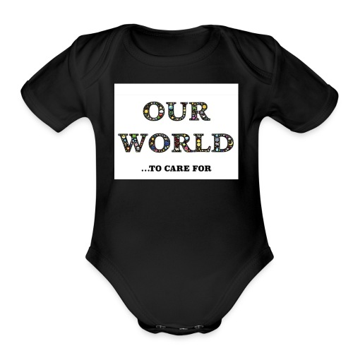 Save the world, save the planet earth awareness - Organic Short Sleeve Baby Bodysuit