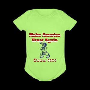 Make America Great...circa 1491 - Short Sleeve Baby Bodysuit