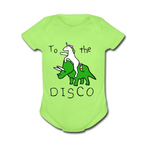 Pony Rhino disco - Short Sleeve Baby Bodysuit