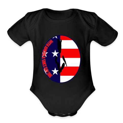 With America Since Day One - Organic Short Sleeve Baby Bodysuit