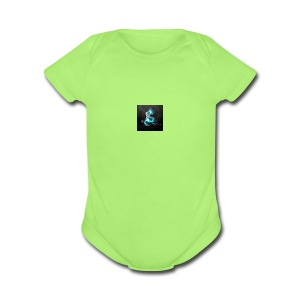 abstract blue dragons blue dragon logos amd 2560x1 - Short Sleeve Baby Bodysuit