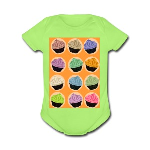 Cupcake TIme - Short Sleeve Baby Bodysuit