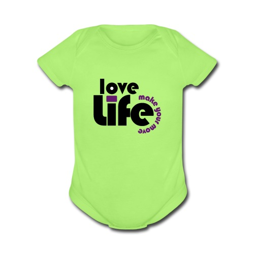 Love Life - Organic Short Sleeve Baby Bodysuit