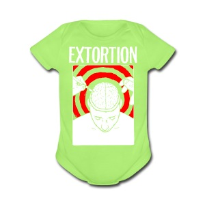 Extortion Brain - Short Sleeve Baby Bodysuit