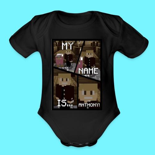 iDMC Comic Strip - Organic Short Sleeve Baby Bodysuit