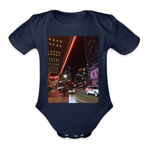 Moon Light Down Town - Organic Short Sleeve Baby Bodysuit