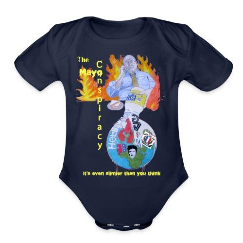Mayo-Conspiracy - Organic Short Sleeve Baby Bodysuit