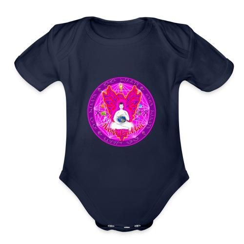 Mama Buddah Mandala - Organic Short Sleeve Baby Bodysuit