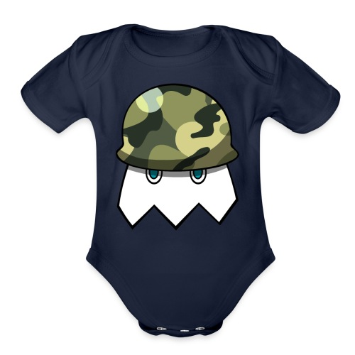 Null Army Logo - Organic Short Sleeve Baby Bodysuit