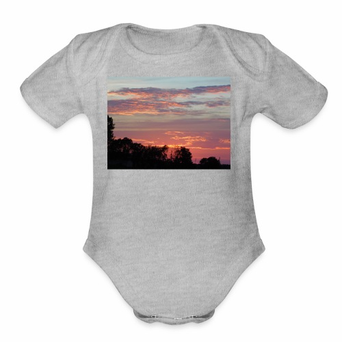 Sunset of Pastels - Organic Short Sleeve Baby Bodysuit