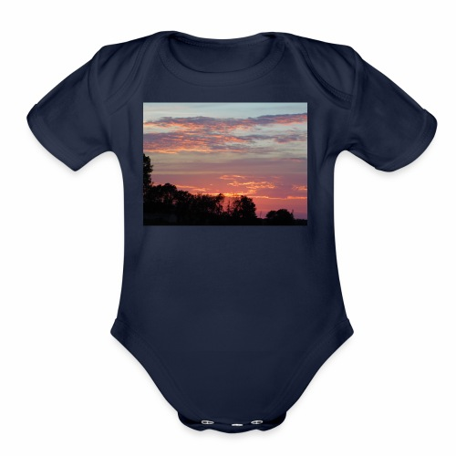 Sunset of Pastels - Organic Short Sleeve Baby Bodysuit