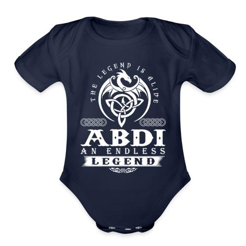 ABDI - Organic Short Sleeve Baby Bodysuit