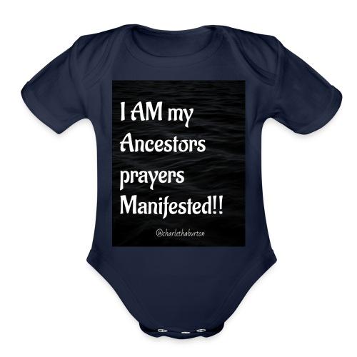 Manifested Prayers - Organic Short Sleeve Baby Bodysuit