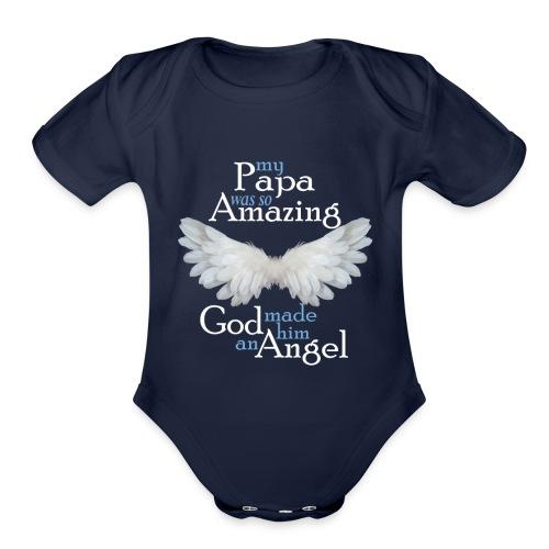 Papa Amazing Angel - Organic Short Sleeve Baby Bodysuit