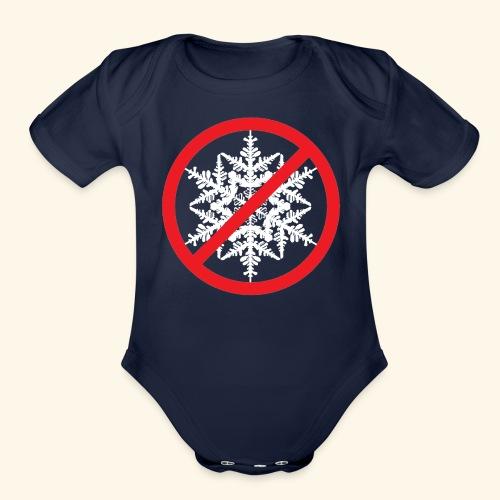 No Snowflakes! - Organic Short Sleeve Baby Bodysuit