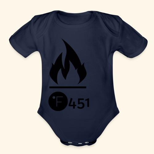 Farenheit 451 - Organic Short Sleeve Baby Bodysuit