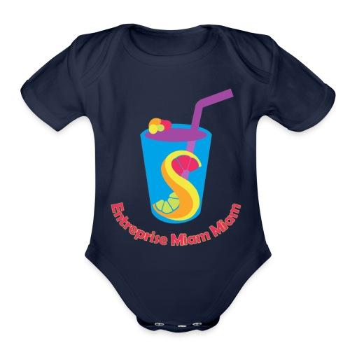 miam5 png - Organic Short Sleeve Baby Bodysuit