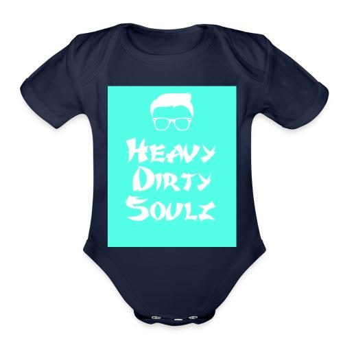 HeavyDirtySoulz Logo - Organic Short Sleeve Baby Bodysuit