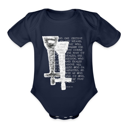 Antichrist design 1 - Organic Short Sleeve Baby Bodysuit