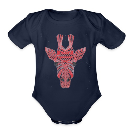 Giraffe Head - Organic Short Sleeve Baby Bodysuit