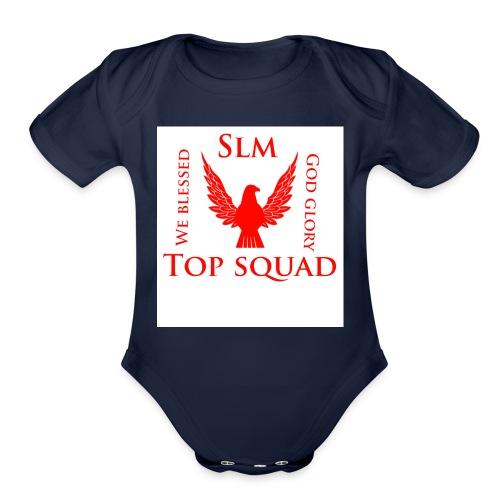 Top squad - Organic Short Sleeve Baby Bodysuit