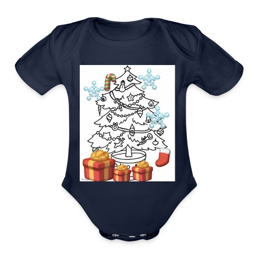 Christmas is here!! - Organic Short Sleeve Baby Bodysuit